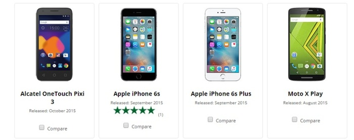 compare phones in canada