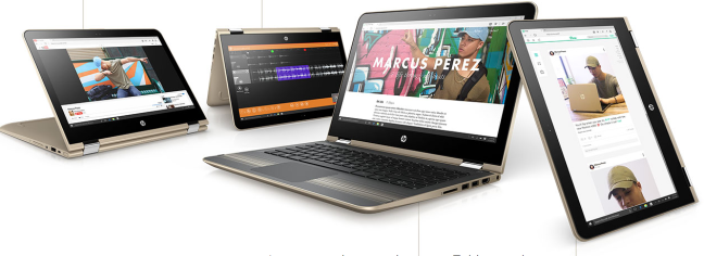 HP Pavilion x360 laptop computer