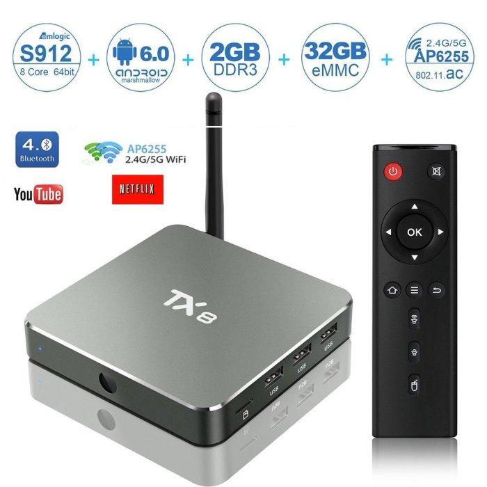 HD TV Box, Lary Intel 2017 TX8 TV Box Android